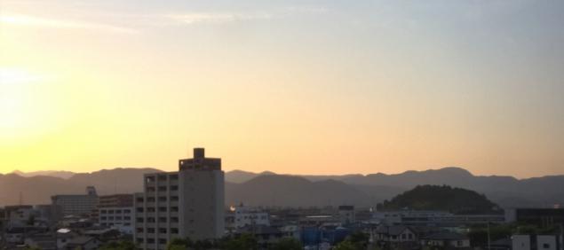 View from my window, morning, Fukushima, Japan